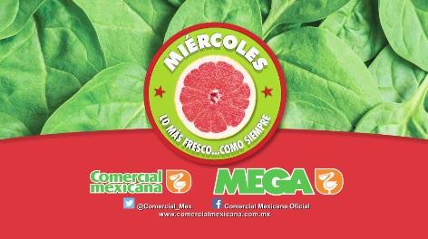Comercial Mexicana: Hoy es Miercóles 10 de Agosto: Sandía Charleston kg. y Lechuga Romana pza. $3.80; Manzana Starking y Mango Ataulfo $19.80 kg.