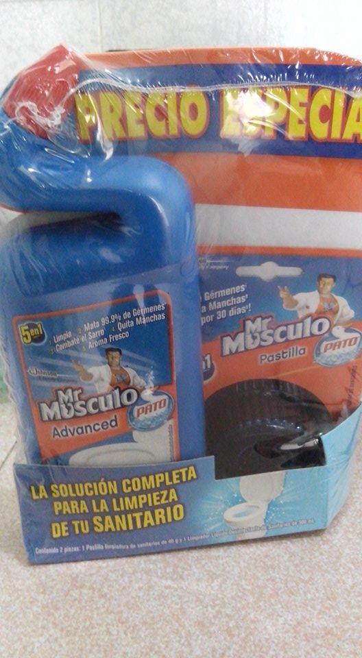 Bodega Aurrerá: Pastilla + Pato Mr. Músculo
