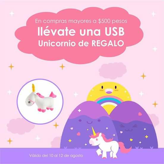 Camino nómada: USB Gratis en compras mayores a $500