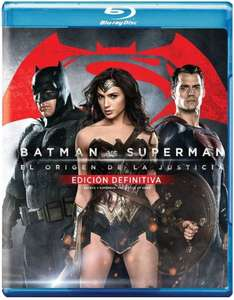 Amazon: Batman vs. Superman El Origen de la Justicia (Blu-ray + Blu-ray Ext + DVD + Copia Digital) a $199