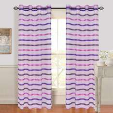 Amazon: Cortinas color violeta con blanco a $88