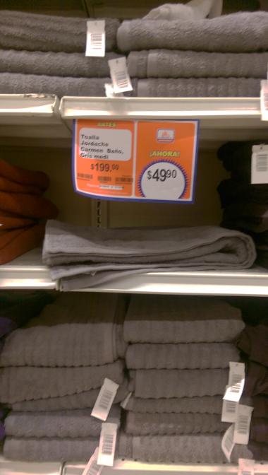 Chedraui Plaza Cruz del Sur Puebla: Toalla de baño color gris a $49