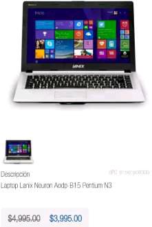 Chedraui: laptop Lanix Neuron