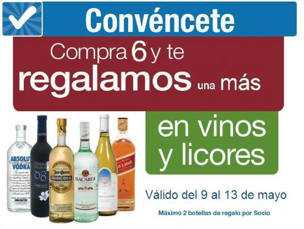 Sams Club: 7x6 en vinos y licores