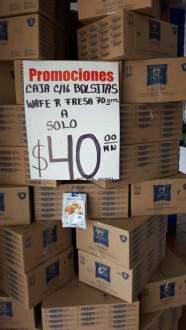 Tienda Mac'Ma Iztapalapa: caja con 16 bolsas de 70gr cada una a $40