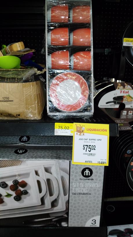 Walmart Salina Cruz: hermoso juego para coffee expreso a $75.02