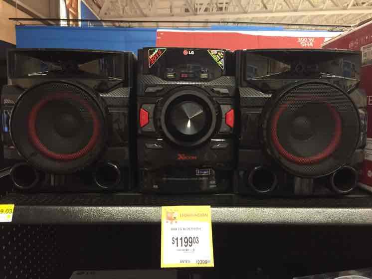 Walmart Tercer Anillo Colima: Minicomponente LG a $1,199.03