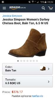 Amazon: Jessica Simpson Women's Darbey Chelsea Boot, Bain Tan, 6.5 M US