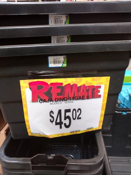 Bodega Aurrerá Lopez Portillo : Caja de Plástico 11 Gal a $45.02