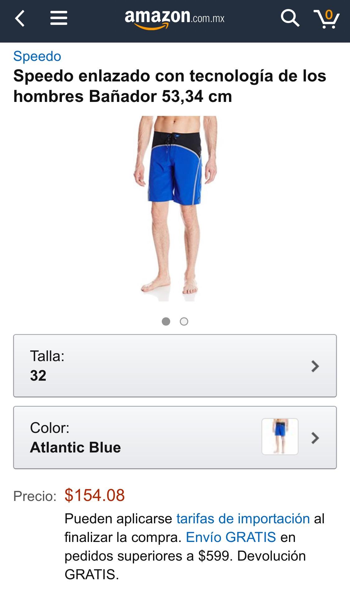 Amazon MX: Bañador hombre marca Speedo a $154 (solo talla 32)