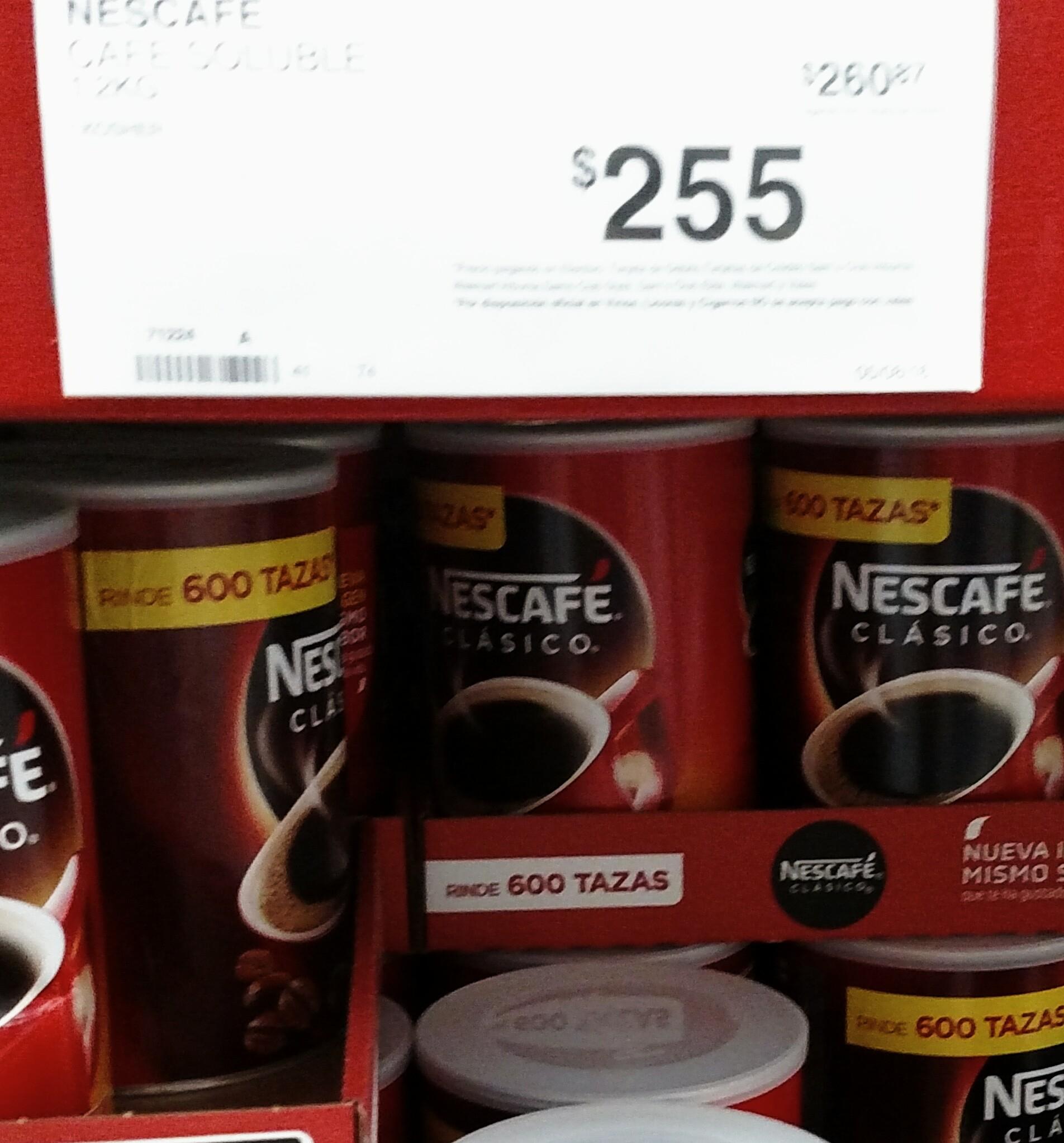 Sam's Club: Nescafé de 1,2  kg a $255