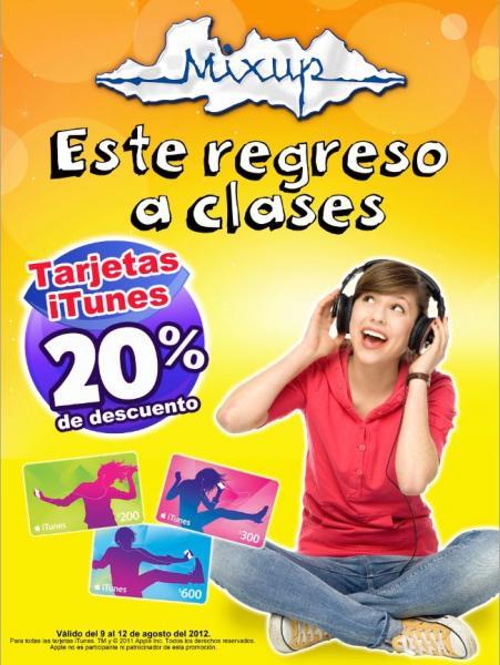 Mixup: 20% de descuento en tarjetas iTunes