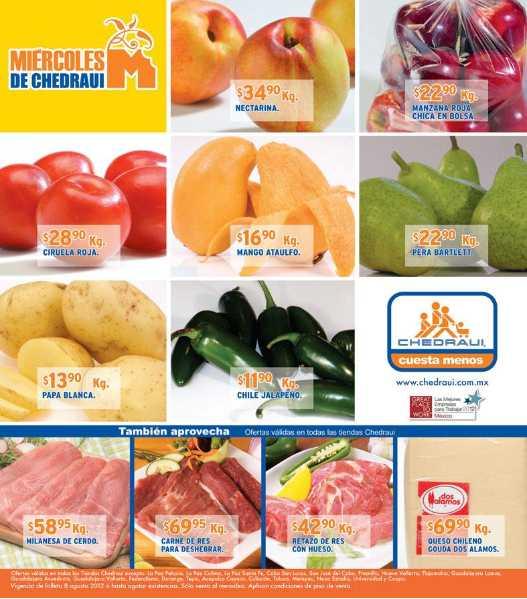 Miércoles de frutas y verduras Chedraui agosto 8: aguacate $26.90, cebolla $7.90 y más