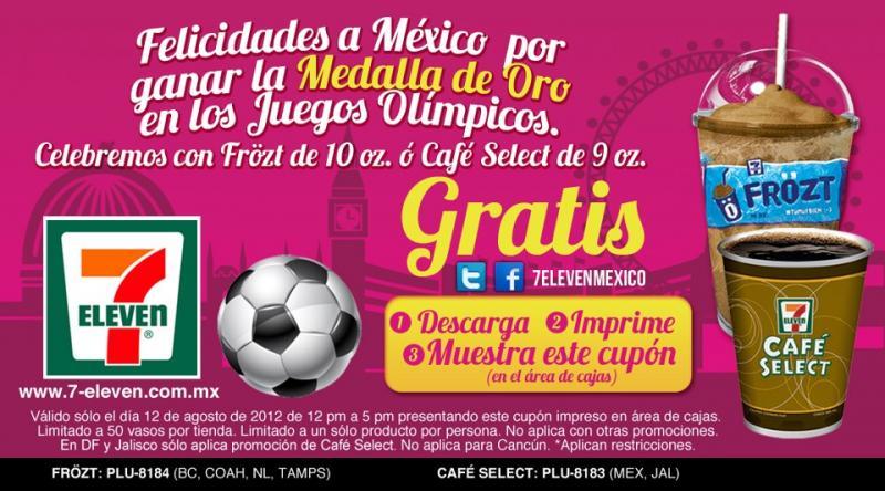 7 Eleven: Frözt o café gratis si México gana una medalla de oro