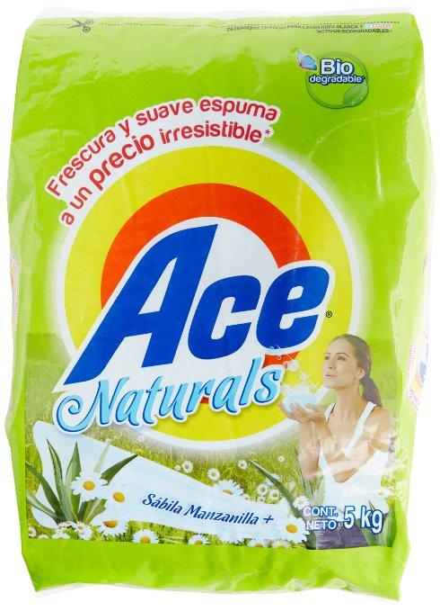 Amazon: Ace Detergente en Polvo Naturals 5Kg a $74.20