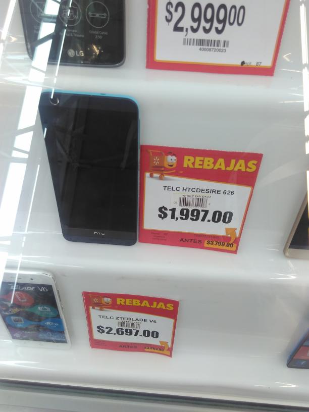 Walmart Jesús del Monte: HTC  Desire 626 a $1,997
