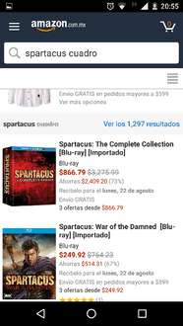 Amazon: Spartacus serie completa en Blu-Ray a $867