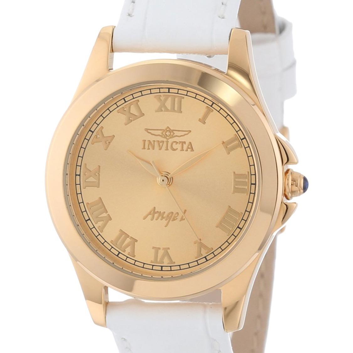 """Amazon: reloj Invicta Women's 14805 """"Angel"""" 18k Gold Plated con bandas intercambiables."""
