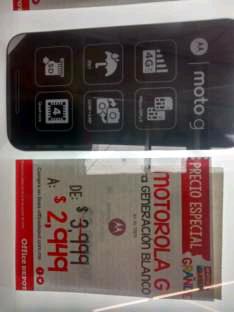 Office Depot: Mororola Moto G 3ra Generacion 16GB Dual SIM a $2,949