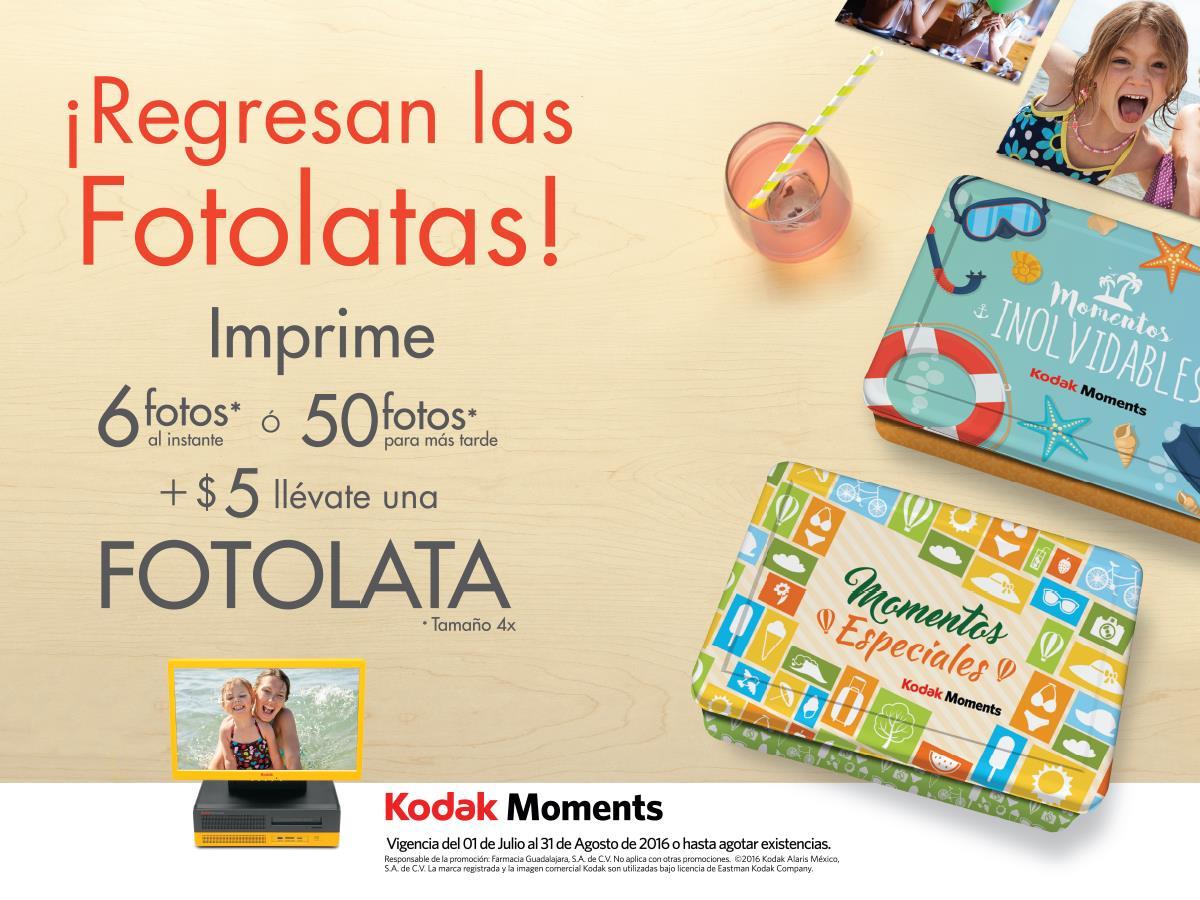 Kodak: fotolata a $5 en 6 impresiones al instante o 50 para más tarde