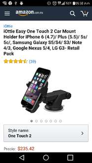 Amazon: Soporte para celular One Touch 2 a $235