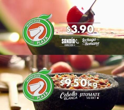 La Comer y Fresko: Miércoles de Plaza 17 Agosto: Sandía Charleston kg. y Lechuga Romana pza. $3.90; Cebolla Blanca y Jitomate Saladet $9.50 kg.