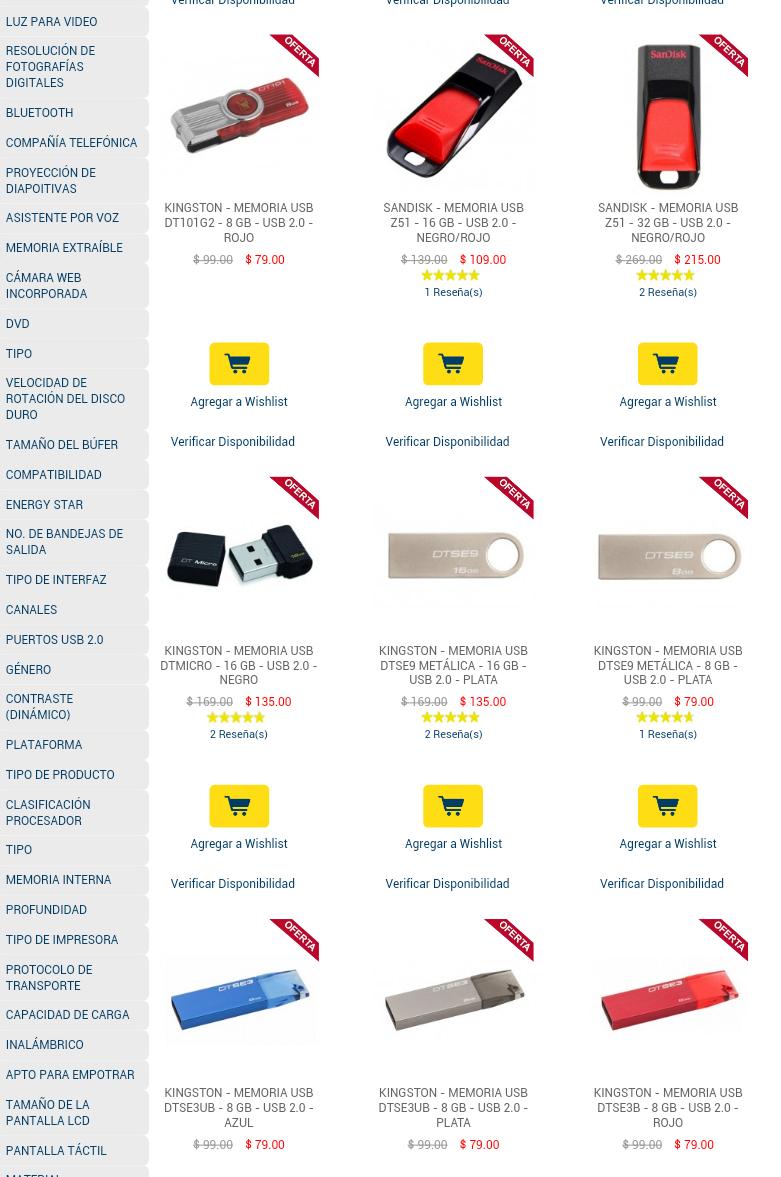 Best Buy: Ofertas de Usb 2.0 y 3.0 ej. 64gb $423 , 16 gb $109 , 8gb $63