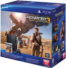 Gamers: Playstation 3 160GB con Uncharted 3 a $4,499 (online)