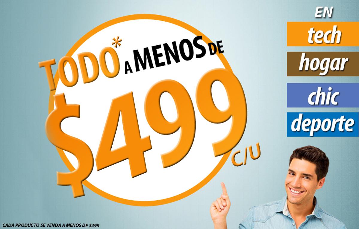 MeQuedoUno: productos a menos de $499 C/U