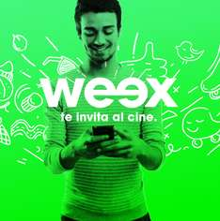 Weex: 2 boletos gratis para Cinépolis(nuevos usuarios)