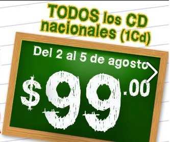 Mixup: CDs nacionales a $99