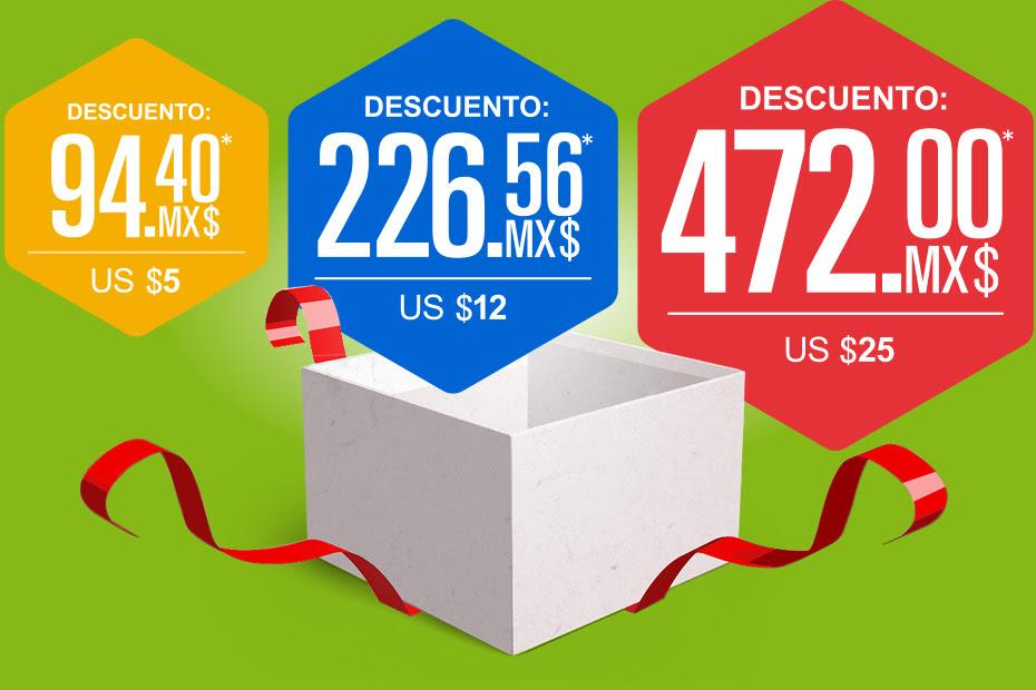 Ebay: cupón de descuento para segunda compra de hasta $472 MXN (los cupones son de 5, 12 y 25 USD según el monto de la primer compra)