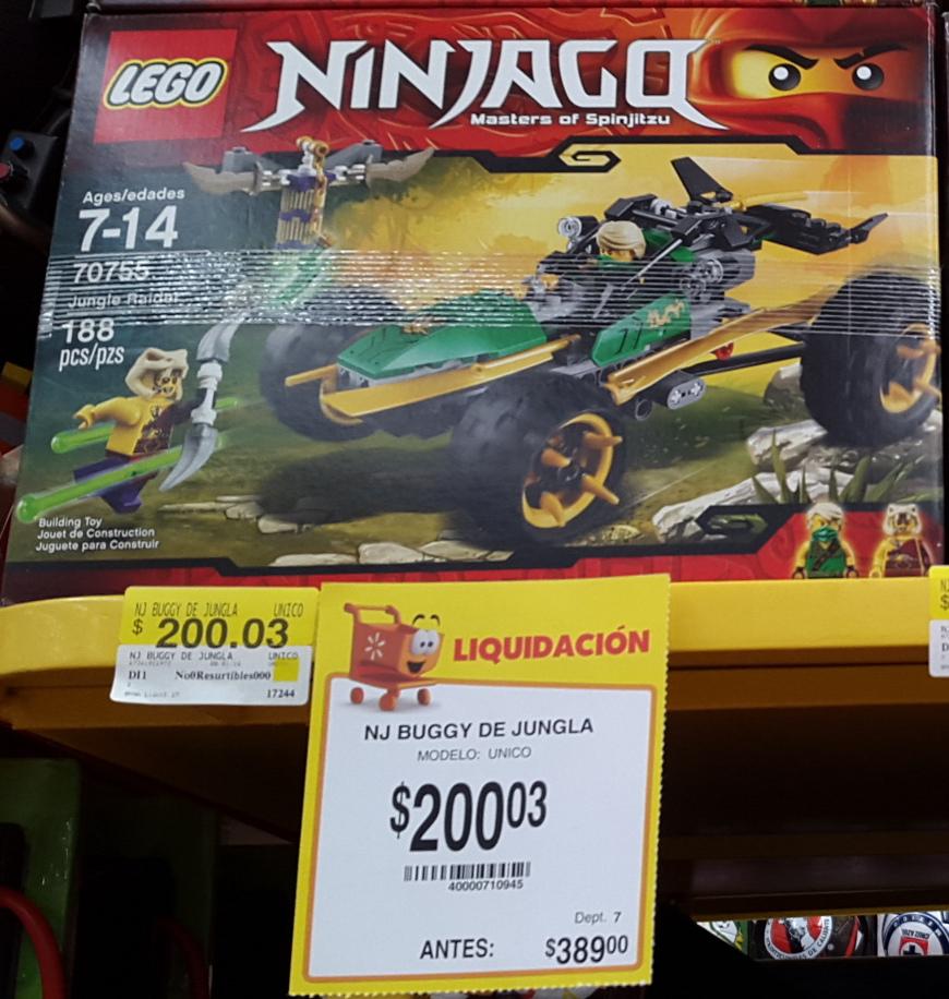 Walmart: LEGO Ninjago Jungle Raider 70755 y otros.