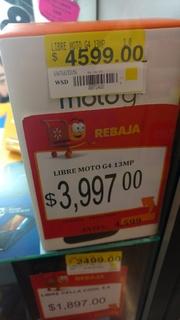 Walmart Gran Patio Texcoco: Moto G4 baja de precio