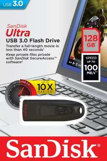 Amazon USA: Sandisk Ultra 128GB USB 3.0 a $$421