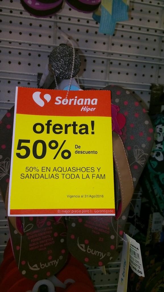 Soriana: sandalias para toda la familia con 50% de descuento