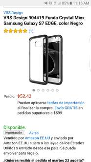 Amazon: Funda Crystal Mix para Samsung Galaxy S7 EDGE