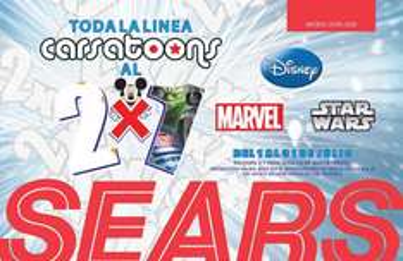Sears: 2x1 en línea Carsatoons (ropa de Marvel, Disney, Star Wars)