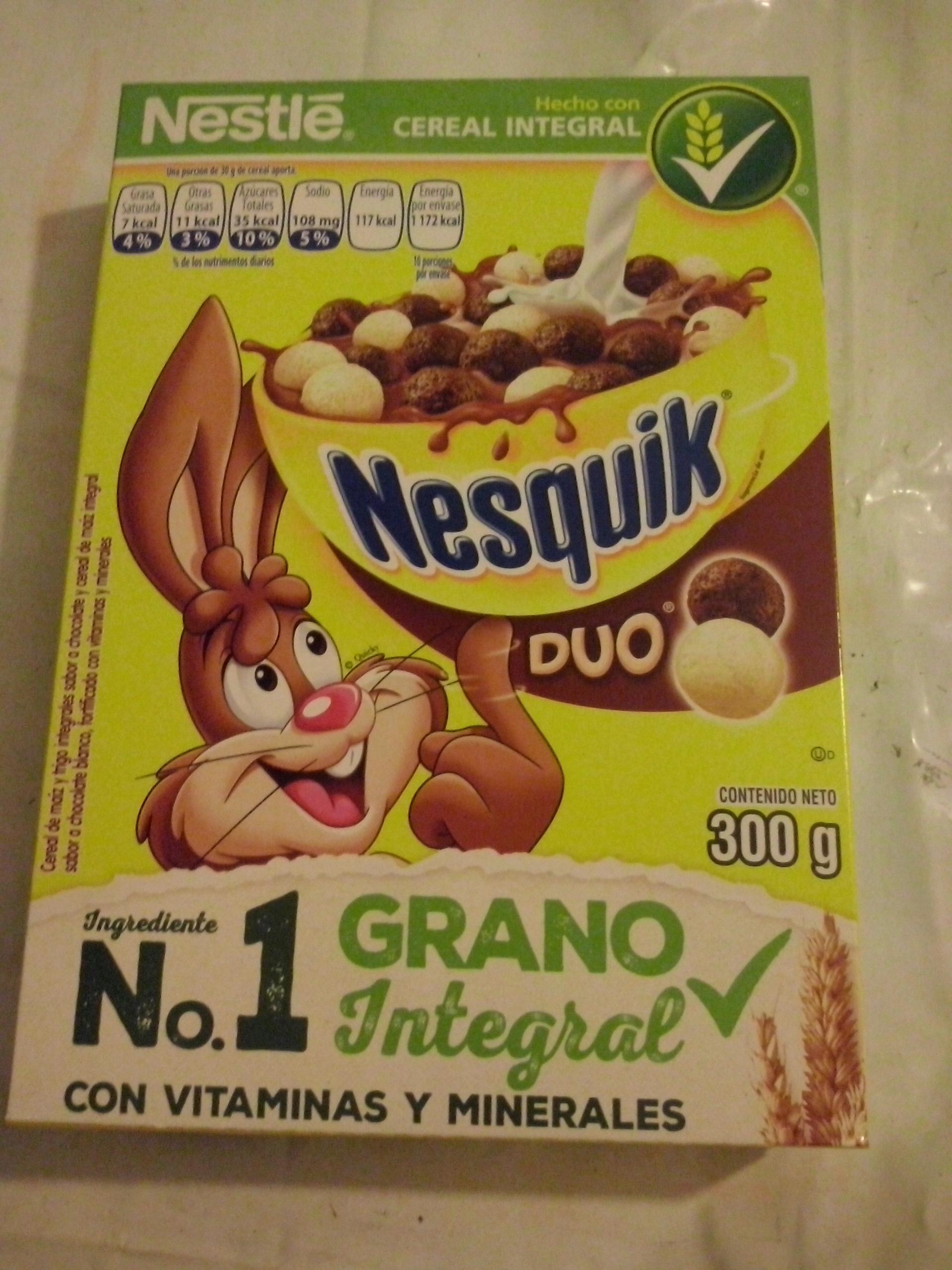 Walmart: Cereal Nesquick Duo a $2.01