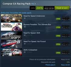 Steam: EA Racing Pack de $1,009 a $164 (Descuento de 84%)