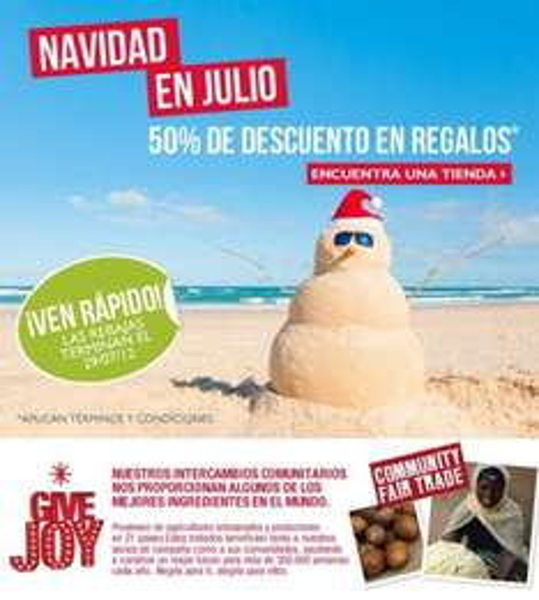 The Body Shop: 50% de descuento en kits de regalo
