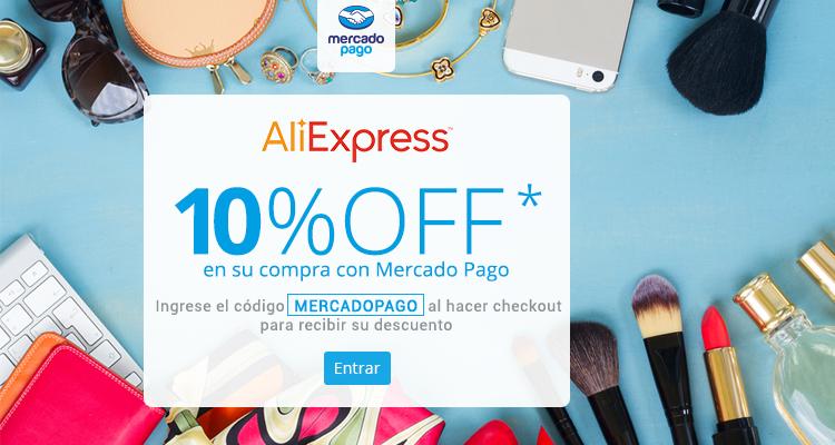 Ali Express: 10% de descuento pagando con pagando con MercadoPago