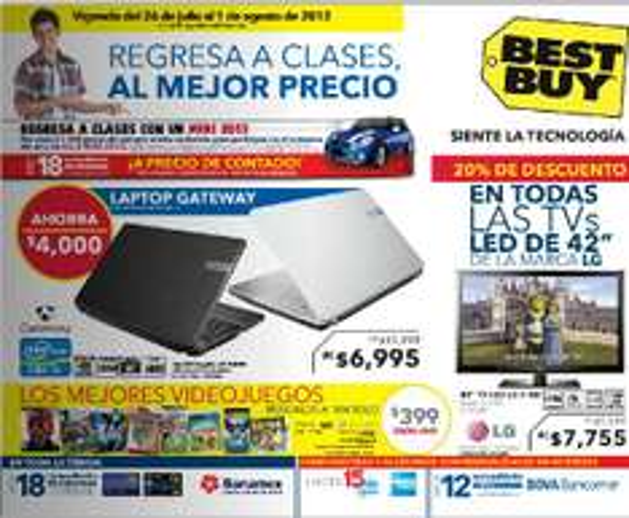 Folleto Best Buy julio 26: descuentos en laptops, videojuegos, accesorios, pantallas y más