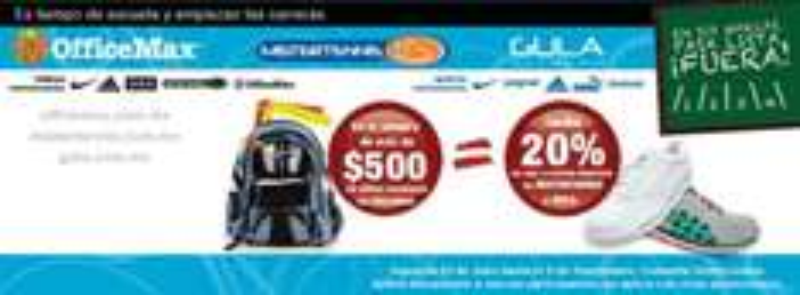 Mister Tennis: 20% de descuento en ropa y calzado en la compra de $500 o más en OfficeMax