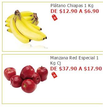 Soriana Híper y Súper: Martes 23 Agosto: Plátano Chiapas $6.90 y Manzana Red Delicious $17.90 kg.