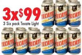 Chedraui: 18 cervezas Tecate Light $99, varias ofertas de 3x2 y más