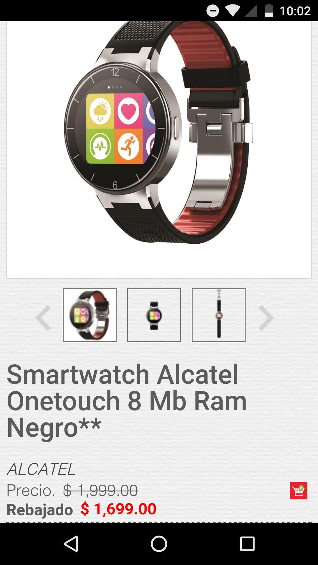 HEB en línea: Smartwatch Alcatel One Touch