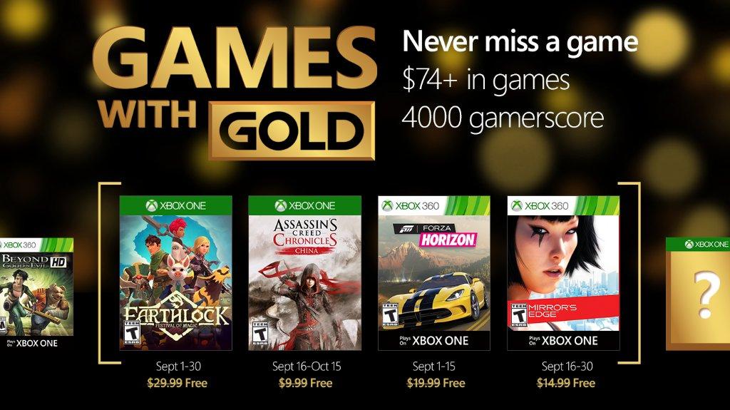 Juegos Gratis con Xbox Live Gold de septiembre de 2016