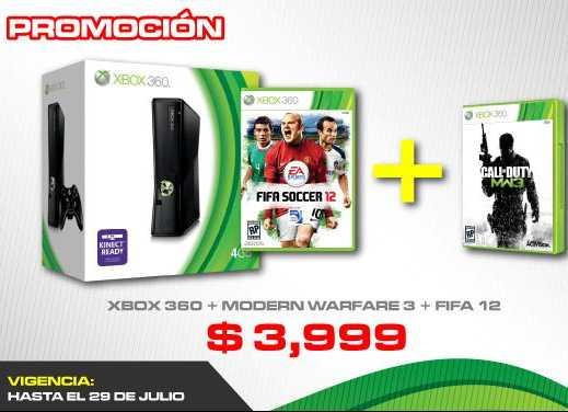 Gamers: Xbox 360 con FIFA 12 y Modern Warfare 3 a $3,999