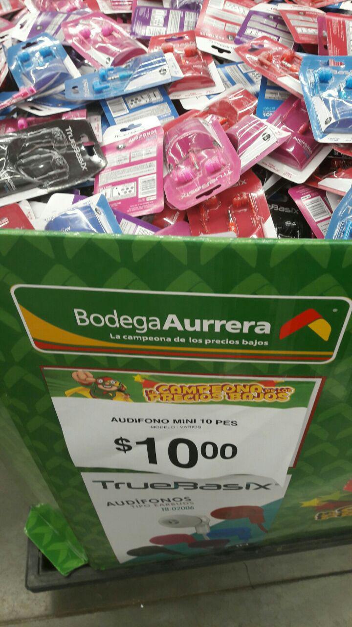 Bodega Aurrerá Palmar Pachuca: audífonos True Basix a $10